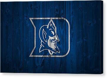 Duke Blue Devils Barn Door Canvas Print by Dan Sproul
