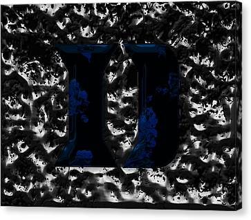 Duke Blue Devils  Canvas Print by Brian Reaves