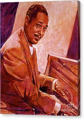 Duke Ellington Canvas Print by David Lloyd Glover