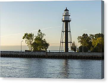 Duluth Inner Canal Lighthouse 2 Canvas Print by John Brueske