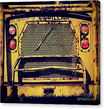 Dump Truck Grille Canvas Print by Amy Cicconi