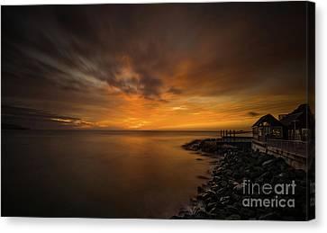 Dunedin Dawn Canvas Print by Paul Woodford