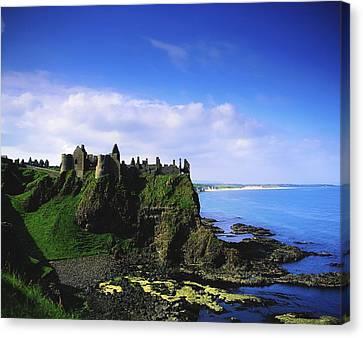 Dunluce Castle, Co Antrim, Irish, 13th Canvas Print by The Irish Image Collection