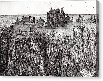 Dunottar Castle Canvas Print by Vincent Alexander Booth