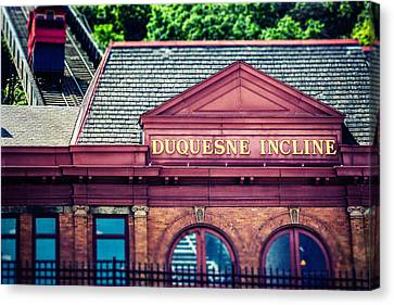 Duquesne Incline Of Pittsburgh Canvas Print by Lisa Russo