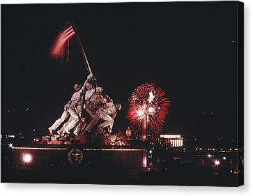 During Independence Day Celebrations Canvas Print by Joseph H. Bailey