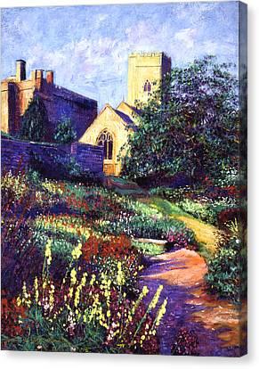 Dusk At The Abbey Canvas Print by David Lloyd Glover
