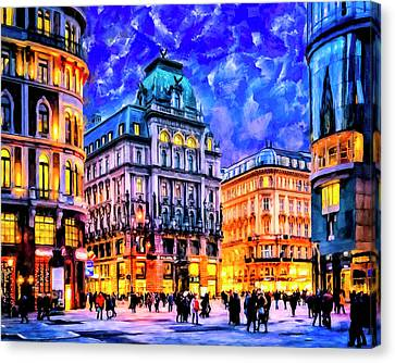 Dusk Blue Skies Over Vienna Canvas Print by Mark Tisdale