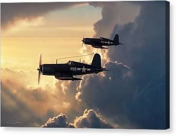 Dusk Patrol Canvas Print by Peter Chilelli
