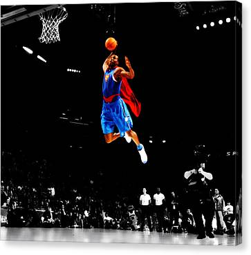Dwight Howard Superman Dunk Canvas Print by Brian Reaves