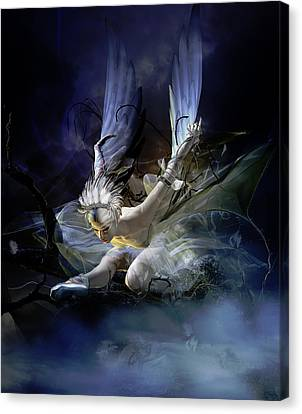 Dying Swan Canvas Print by Mary Hood