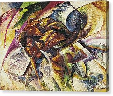 Dynamism Of A Cyclist Canvas Print by Umberto Boccioni