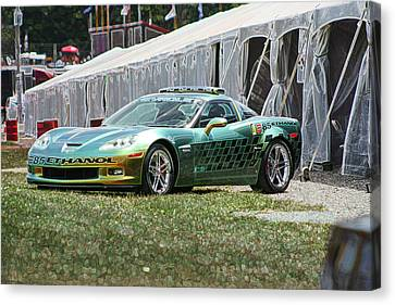 E85 Corvette Pace Car Canvas Print by Darrell Foster