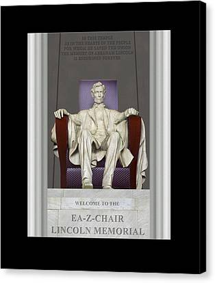 Ea-z-chair Lincoln Memorial Canvas Print by Mike McGlothlen