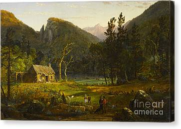 Eagle Cliff Franconia Notch New Hampshire Canvas Print by Celestial Images