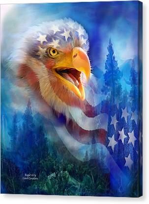 Eagle's Cry Canvas Print by Carol Cavalaris