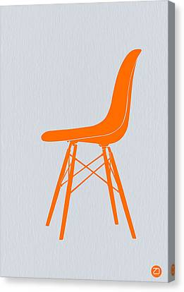Eames Fiberglass Chair Orange Canvas Print by Naxart Studio