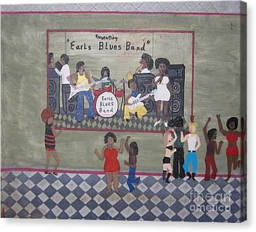 Earls Blues Band Canvas Print by Gregory Davis