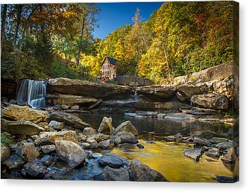 Early Autumn At Glade Creek Grist Mill 2 Canvas Print by Shane Holsclaw