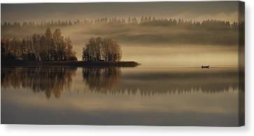Early Autumn Morning Canvas Print by Pekka Ilari T