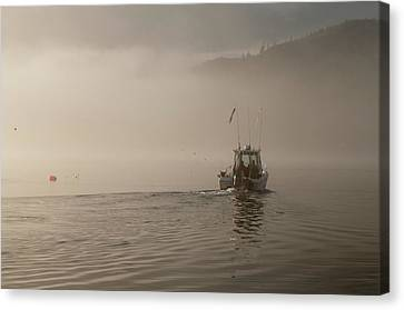 Early Morning Fishing Boat Canvas Print by Chad Davis