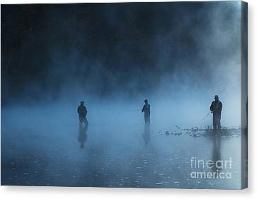 Early Morning Fishing Canvas Print by Tamyra Ayles