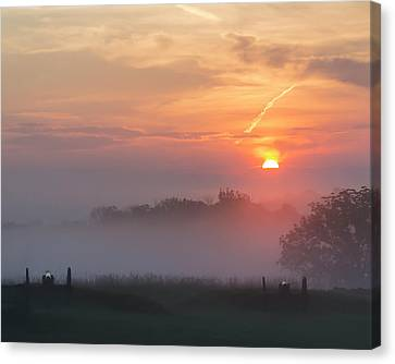 Early Morning Gettysburg Battlefield Canvas Print by Bill Caldwell