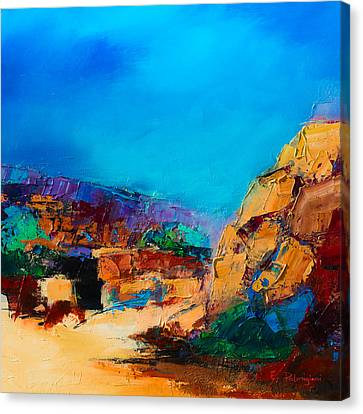 Early Morning Over The Canyon Canvas Print by Elise Palmigiani