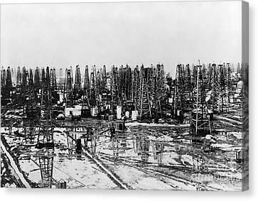 Early Oil Field Canvas Print by Granger