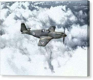 Early P-51 Mustang Fighter  Canvas Print by Randy Steele