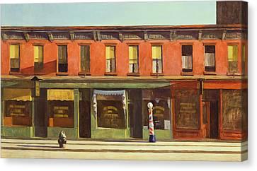 Early Sunday Morning Canvas Print by Edward Hopper