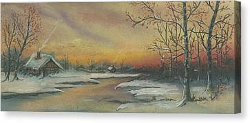 Early Winter Canvas Print by Shelby Kube