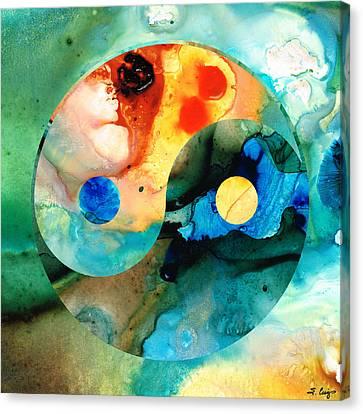 Earth Balance - Yin And Yang Art Canvas Print by Sharon Cummings