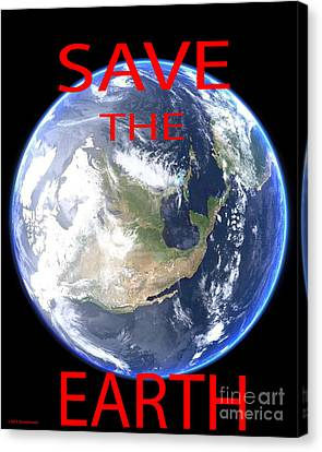 Save The Earth Canvas Print by Jerome Stumphauzer