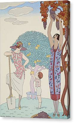 Earth Canvas Print by Georges Barbier