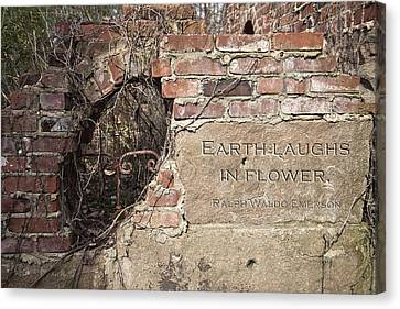 Earth Laughs In Flower Wall Canvas Print by Tom Mc Nemar