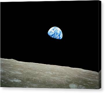 Earthrise Canvas Print by Space Art Pictures