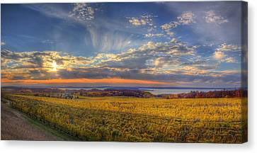 East Bay From Old Mission Peninsula Canvas Print by Twenty Two North Photography