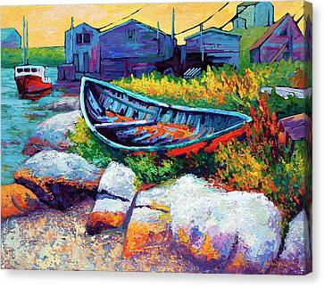 East Coast Boat Canvas Print by Marion Rose