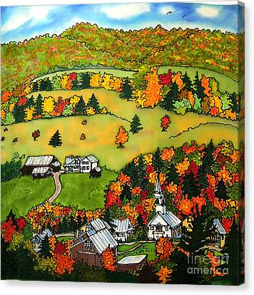 East Corinth Village Canvas Print by Linda Marcille