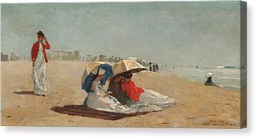 East Hampton Beach Long Island Canvas Print by Winslow Homer