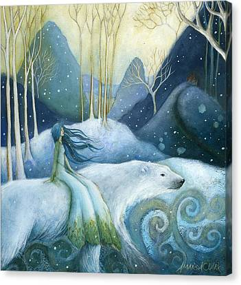 East Of The Sun West Of The Moon Canvas Print by Amanda Clark