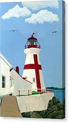 East Quoddy Head Lighthouse Canvas Print by Frederic Kohli