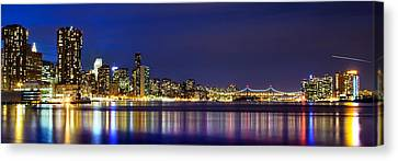 East River View Canvas Print by Az Jackson