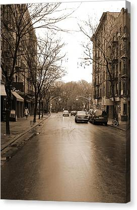 East Village In Winter Canvas Print by Utopia Concepts