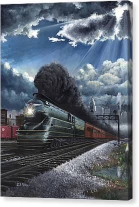 Eastbound Broadway Limited Canvas Print by David Mittner