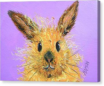 Easter Bunny  Painting - Poppy Canvas Print by Jan Matson