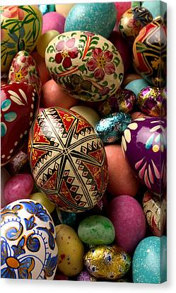 Easter Eggs Canvas Print by Garry Gay