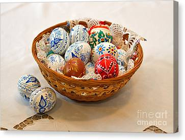 Easter Eggs Canvas Print by Louise Heusinkveld