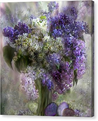 Easter Lilacs Canvas Print by Carol Cavalaris
